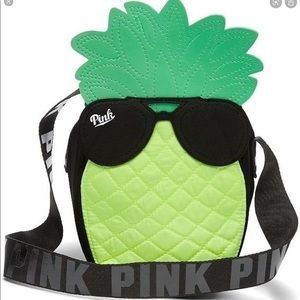 VS Pink Insulated Cooler Pineapple w Sunglasses 🍍
